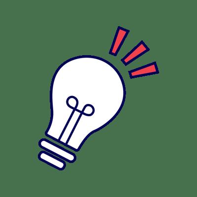 Creative lightbulb icon