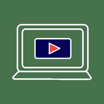 Digital video on laptop icon