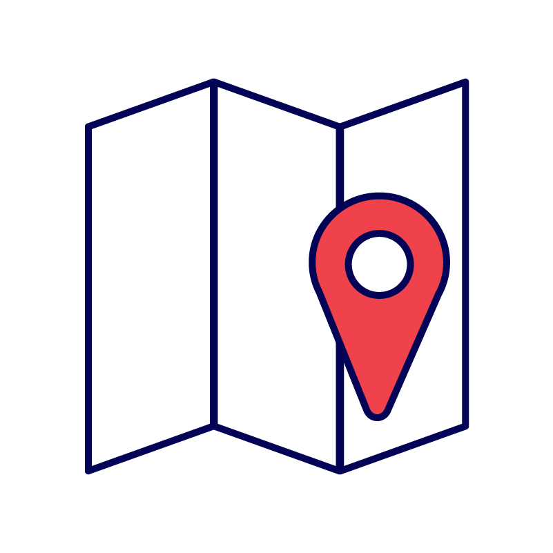 Map and locations icon