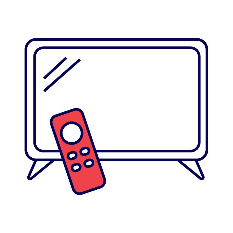 Television with remote icon
